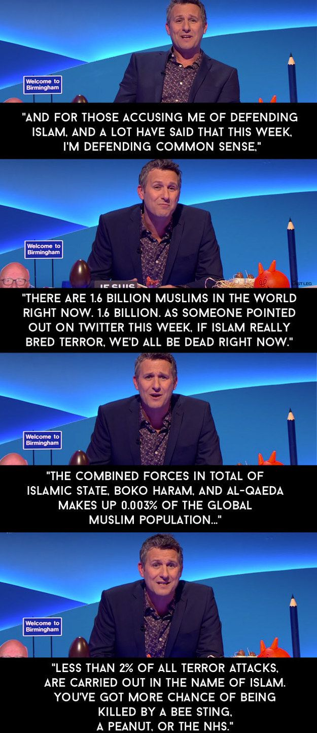 """When he defended Islam shortly after the Charlie Hebdo attacks in Paris earlier this year. 