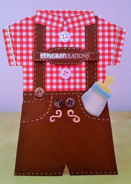Lederhosen baby boy congratulations card