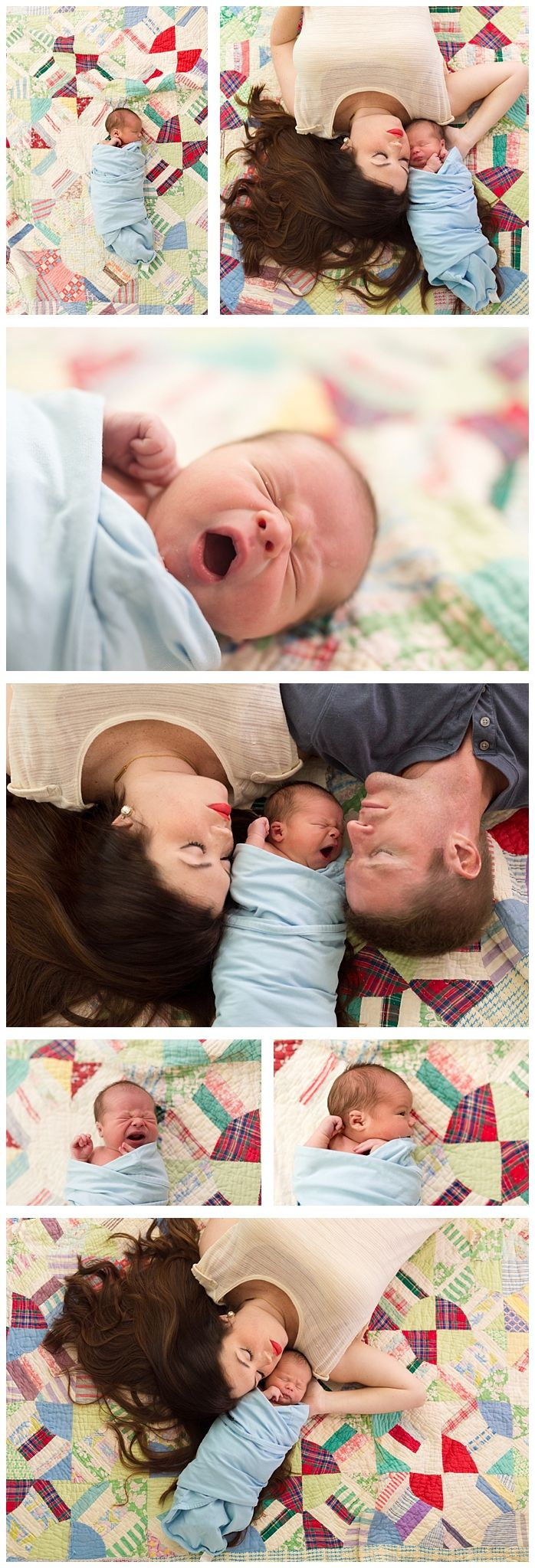 Sweet Family Photos With Newborn Parents And Vintage Quilt Ocean Springs Mississippi