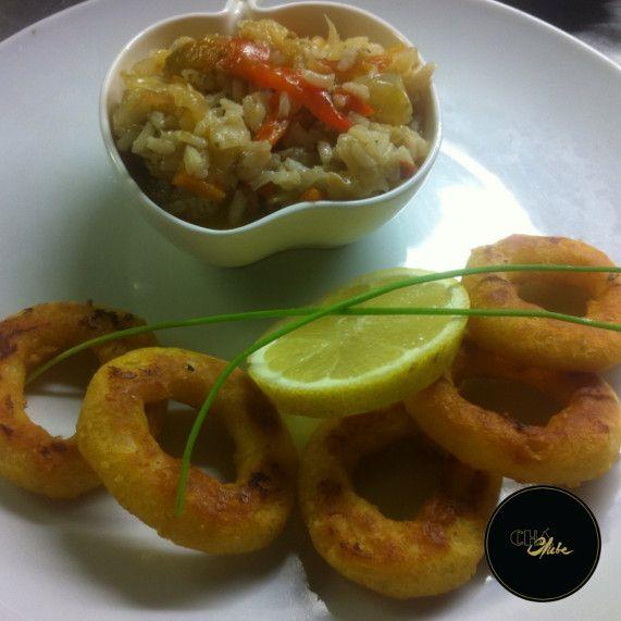 Deliciosos e estaladiços calamares! Os melhores do Porto. Delicious and crispy calamari! They are the best you can tast in Oporto.