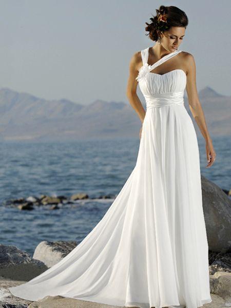 23 best one shoulder Wedding Dresses images on Pinterest | Short ...