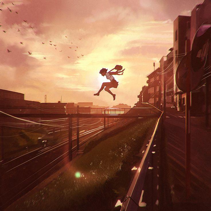 Don't be afraid to jump!  #anime #Animegirl #Original