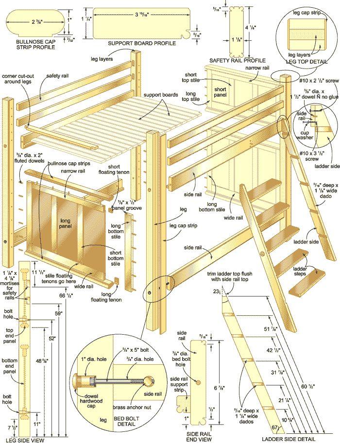 bunk bed plans illustration