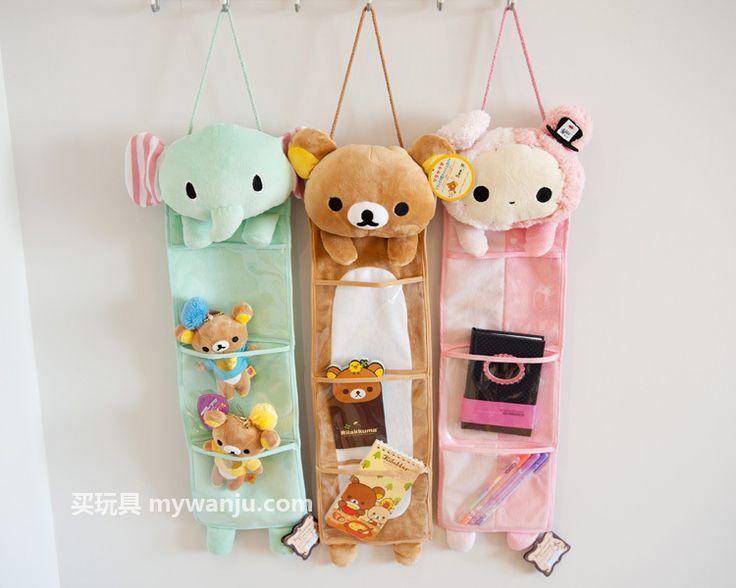 San-X Rilakkuma Wall Hanging Storage Bag Cute (Bear Rabbit)   eBay (AWW Look at Shippo!!)