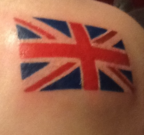 Union Jack Tattoo -- THIS IS MY FRIEND'S!!