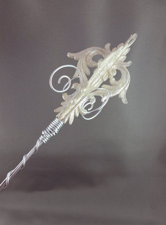 Silver Damask Sceptre  Princess Wand Princess by angelyques