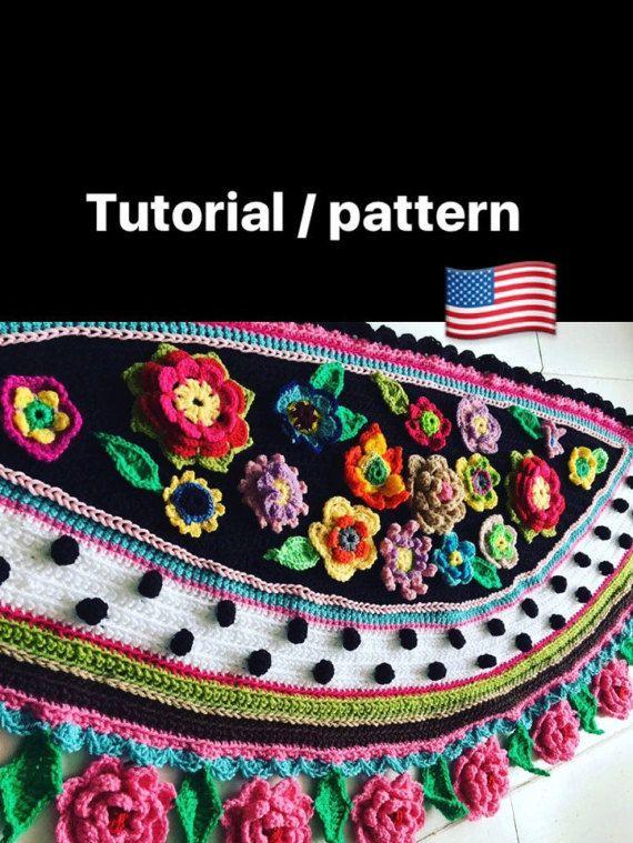Tutorial crochet pattern wrap online workshop van Pollevie op Etsy
