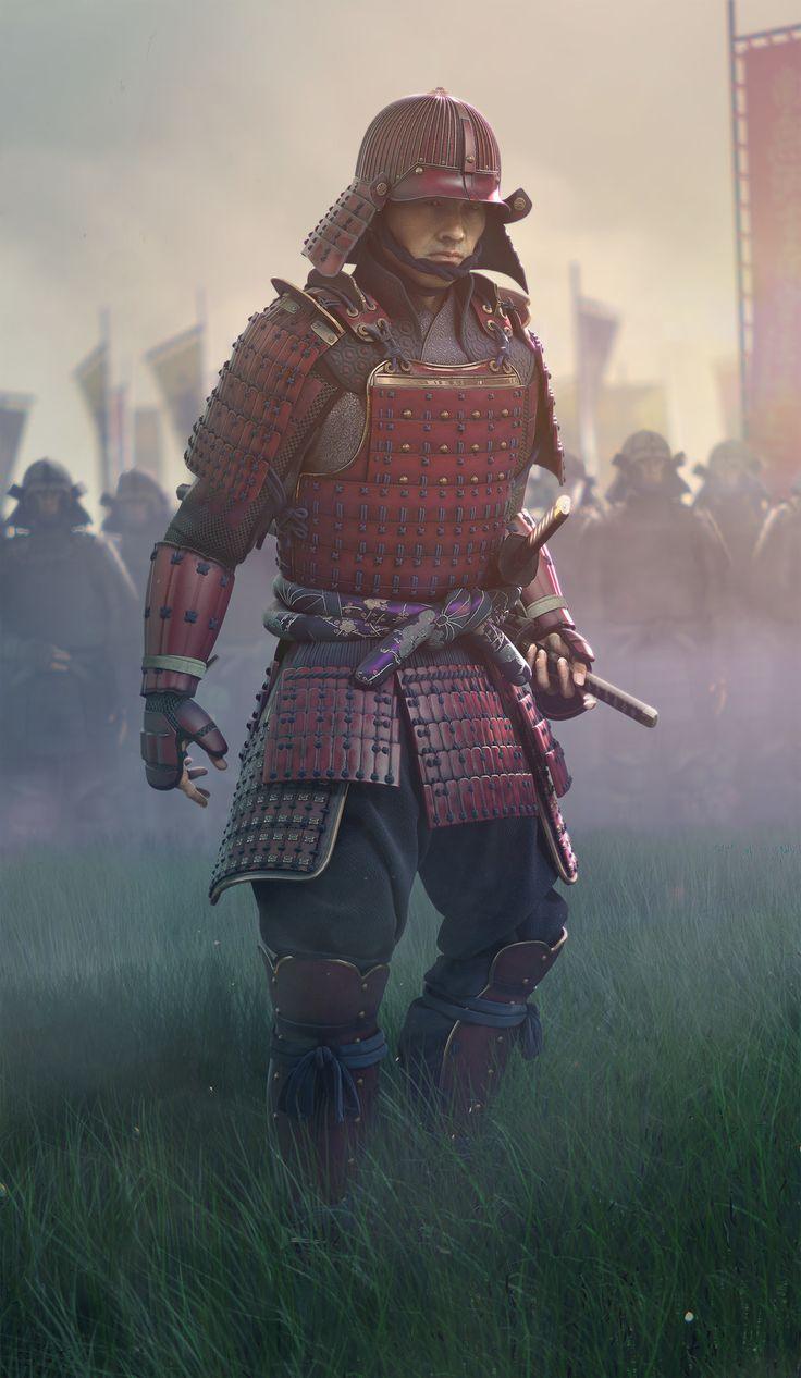 CG Society: Samurai 3D Model by Eugene (Yevhen) Lisunov. WOW!
