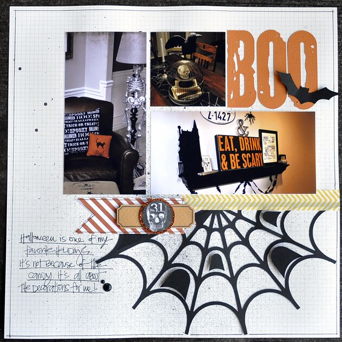 Boo!...Halloween Home Decorating Layout