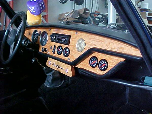 Spitfire Diy Wood And Leather Dash Interior In This Thing Looks So Much Cooler Than