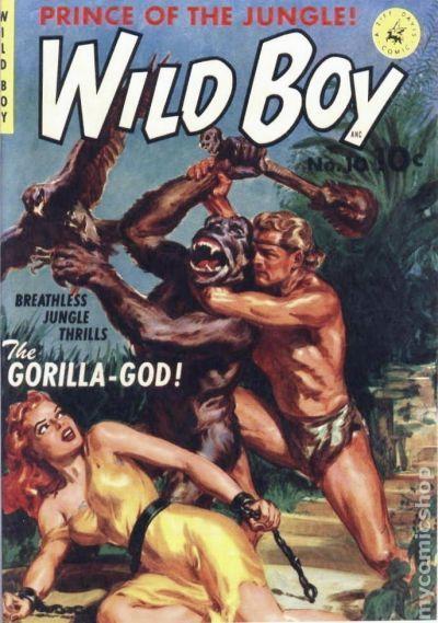 ziff-davis comics | Wild Boy of the Congo (1953 Ziff Davis) comic books