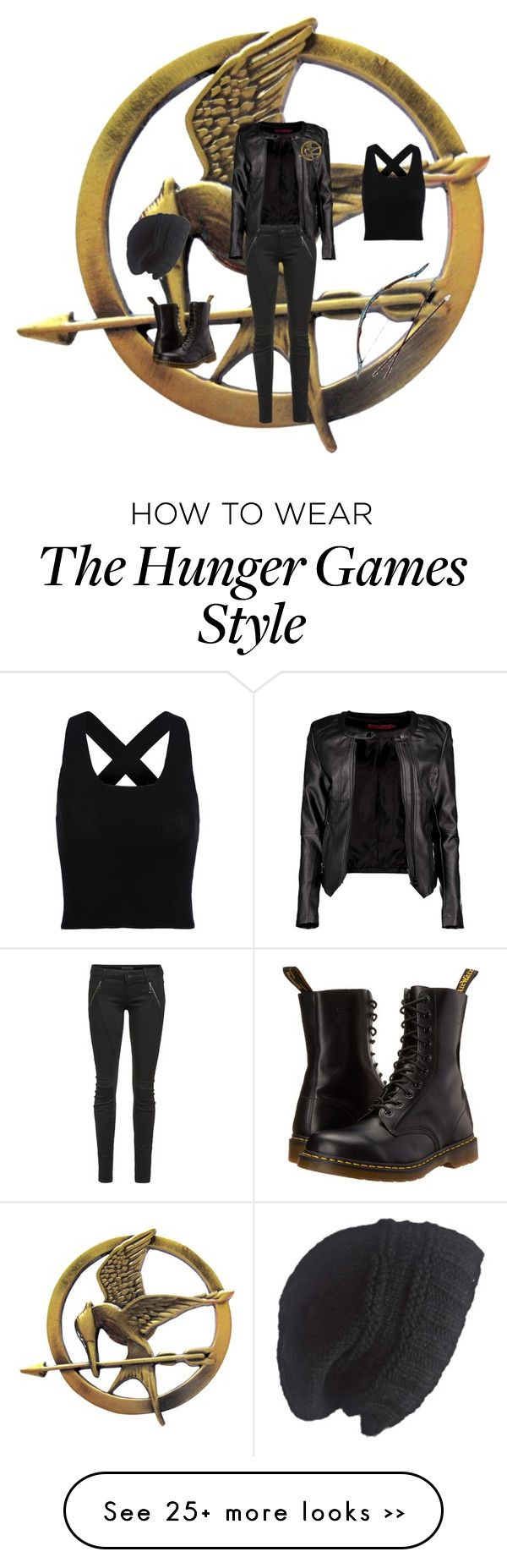 """Hunger games"" by eloisemorris-1 on Polyvore featuring Letitia, Boohoo, Dr. Martens and Laundromat"