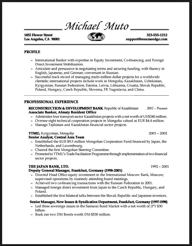 33 best resume tips images on Pinterest Application letter for - investment analyst resume