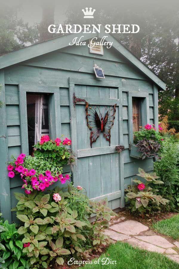 Creative garden shed ideas for the garden #gardensheddesigns