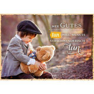 Postkarte Wer Gutes tun will - Luther-Zitat