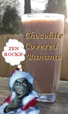 1 packet of Zen shake mix, 6 inch banana, 1 tsp. of fat free chocolate pudding mix, 8 oz. of soy milk, 4 ice cubes...blend and enjoy! #AmandaMartinShaver