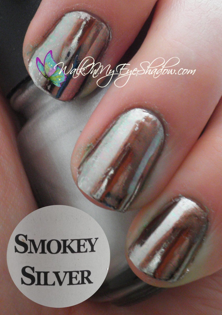 103 best nail art foils images on pinterest nail foil eye smokey silver prinsesfo Image collections