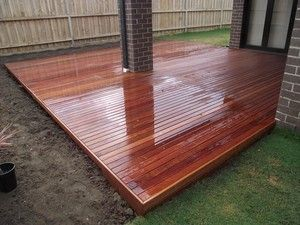 Alfresco Decking - extending our from both corners