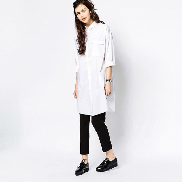 White Shirt Dress Women Boyfriend Style Long Sleeve Dresses Loose Casual Dresses For Women Sexy Loose White Shirting Dress Robe