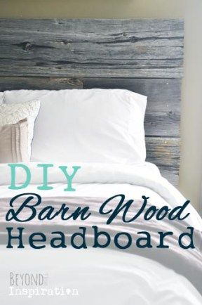 DIY Barn Wood Headboard   www.beyondtheinspiration.com                                                                                                                                                                                 More