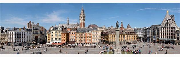 Panoramique Place du General de Gaulle à Lille par Michel Legay  #Lille