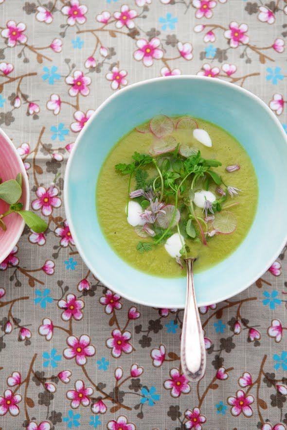 Asparagus and Purslane Soup ++ cannelle et vanille