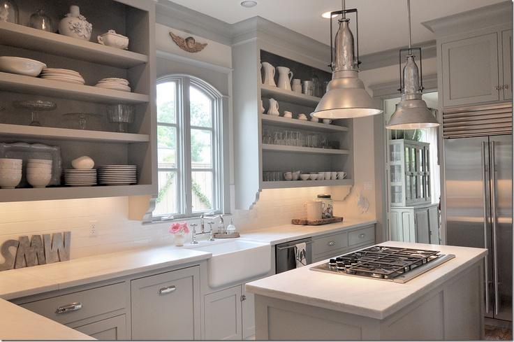 Pretty grey kitchen (minus the angel)!