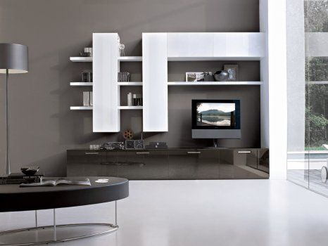 love this shelving unit design