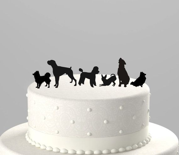 A pet can be added to accommodate any of our cake toppers! Add one or more of your best friends to be included in your custom cake topper order.