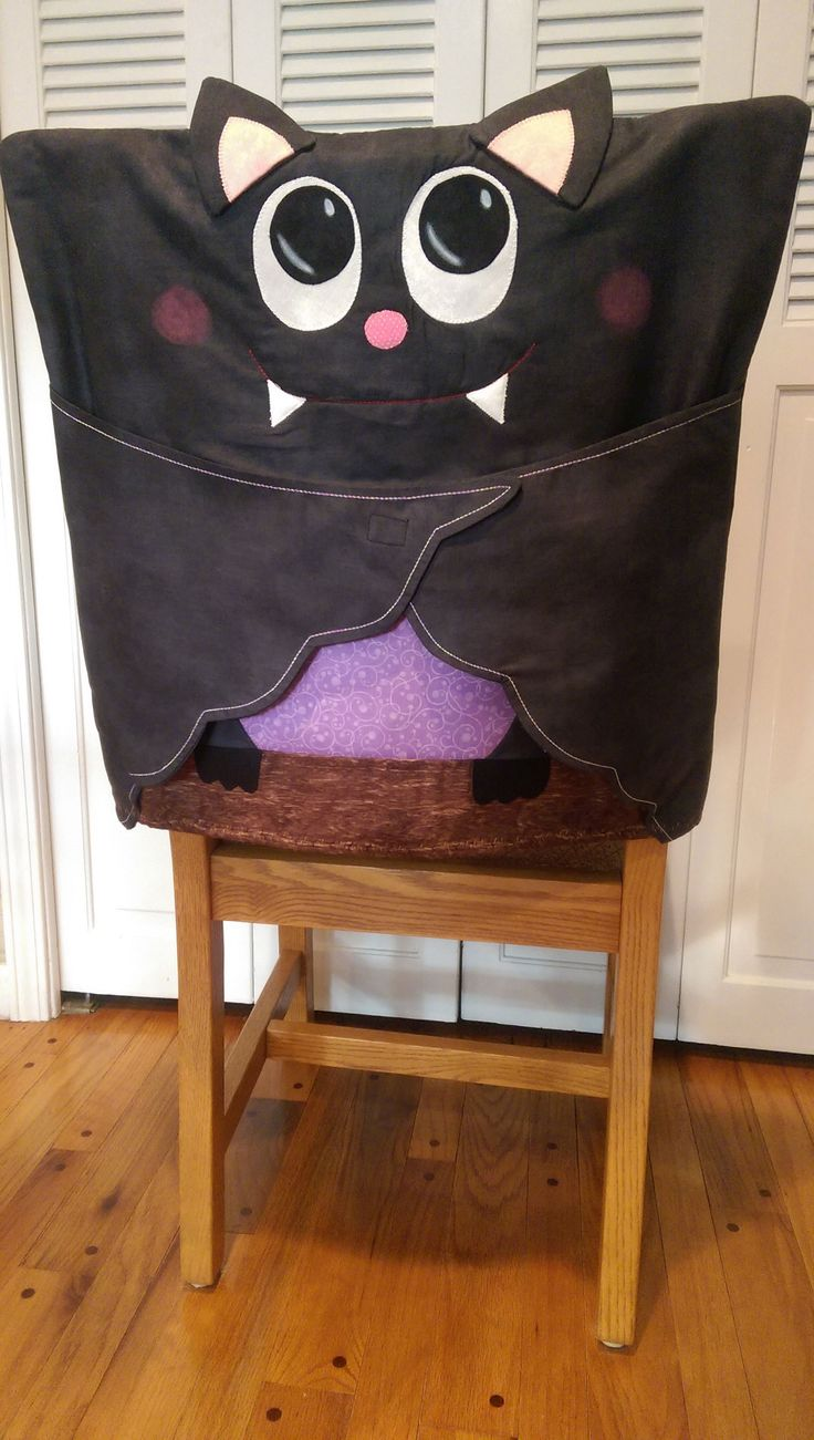 """Bat Chair Cover By Ryerson, Annette  - 21-1/2in x 22in. Uses Creative Grids CGRSAV1. Project Time: 2-6 Hours.Fabric Type: Yardage Friendly. Project Type: Home. CLP patterns are printed on 8-1/2"""" x 11"""", anti-copy card stock. Because they are customized with your shop's Bill-to account name, phone number and web site, they are not returnable."""