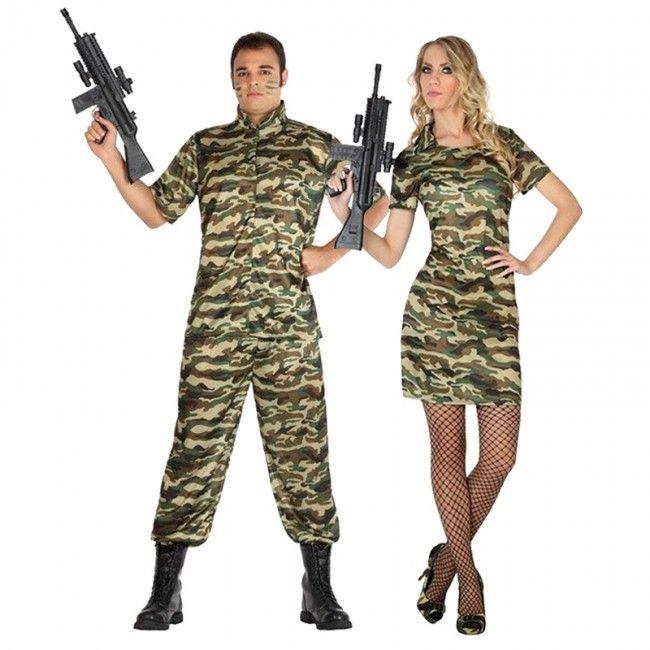 Pareja Militares Camuflaje #parejas #disfraces #carnaval #novedades2016