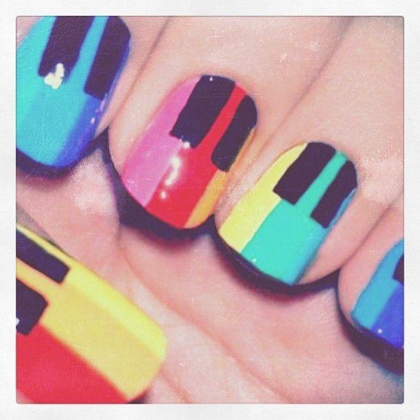 fun piano nails