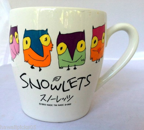 Snowlets Owls Japan Olympic Mascots coffee mug Cup