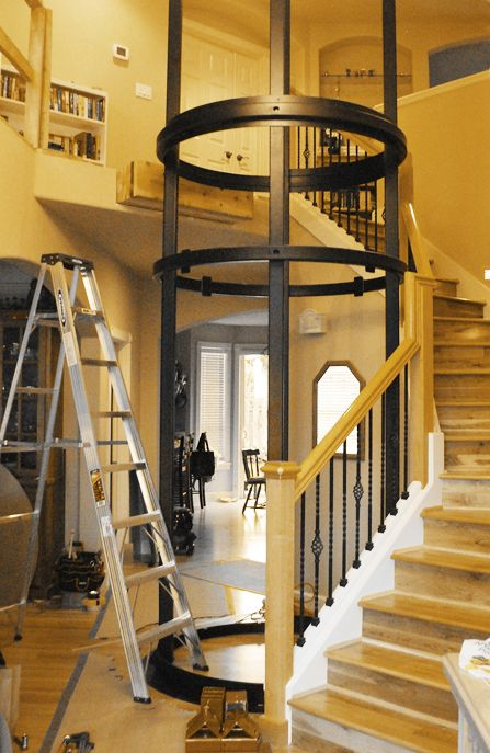 Visilift Round Retrofit Residential Elevator Fit Easily
