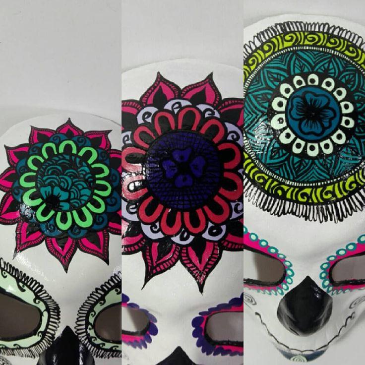 Máscaras y Antifaces de cuero Máscaras Katrina Hand made genuine leather By Taller Art-cuero #cuero #leather #artesanias #mascaras #masks #leatherart #bogota #colombia #halloween #disfraces #catrina #katrina #antifaces #leathermask