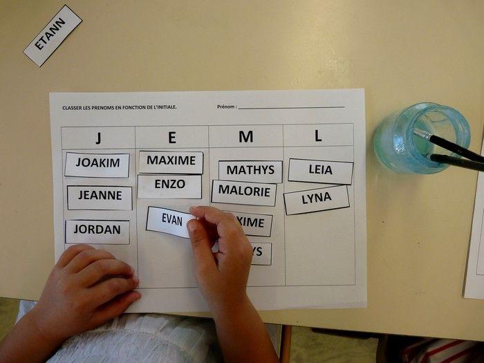 Quelques activités autour du prénom dans ma classe de moyenne section:   En tout début d'année, il est intéressant de savoir si les enfants...