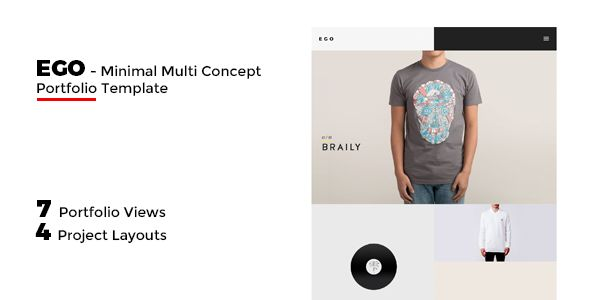 EGO - Multi-Concept Portfolio -Freelancer / Agency