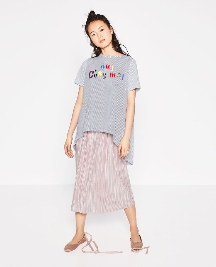 STRIPED T-SHIRT WITH TEXT