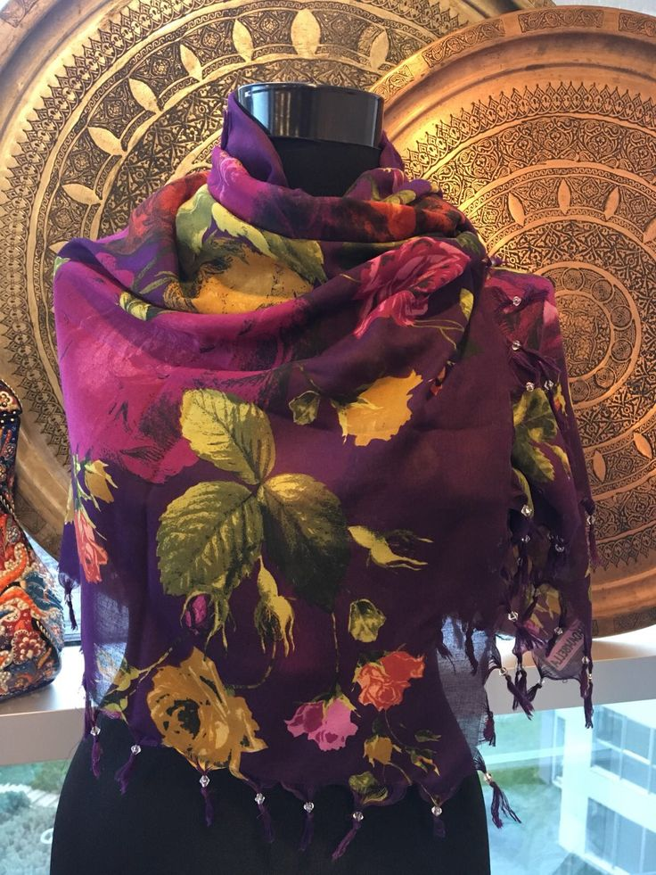 PURPLE TURKISH SCARF, 00019