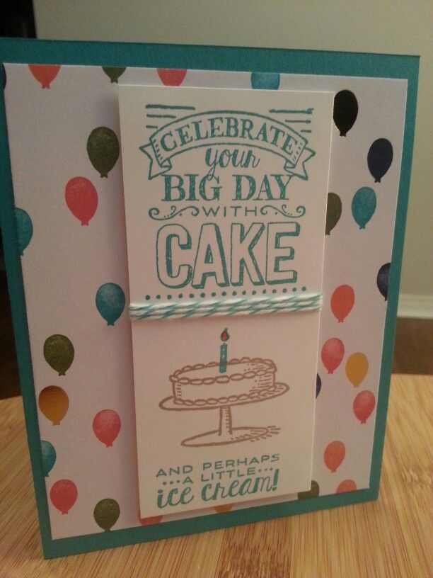 Big day. Birthday bash dsp. Bermuda Bay. Bakers twine. Crumb cake.