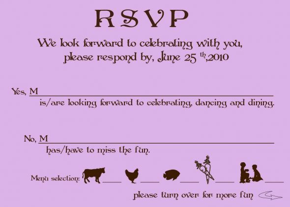 exle of wedding response card wording - 28 images - emilee s david