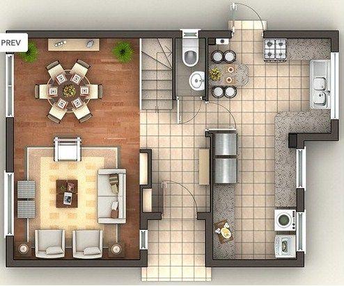 Plano de casa de 200 m2