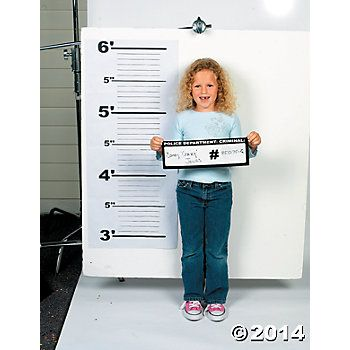 Police Line Up And Dry Erase Board Set  Oriential Trading