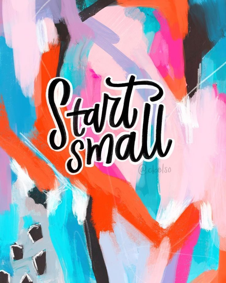 #AbstractAffirmationsDaily / Start small. ⠀ . ⠀ I would definitely describe myself as someone who's addicted to personal growth. I love making tiny strides to improve different parts of myself, whether it's through my habits, my creativity or the way I interact with others. ⠀ . ⠀ But this can get me into trouble sometimes. I find myself wanting to change ALL THE THINGS at once ALL THE WAY. I've learned this approach never lasts for very long. ⠀ . ⠀ So over the years I've learned if there's…