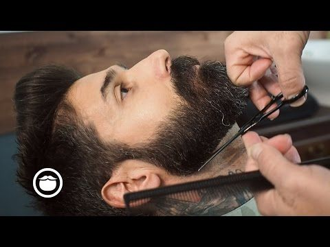 Barbershop Beard Trim & Wet Shave with Narration | Carlos Costa - YouTube
