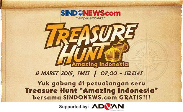 """Ikuti game petualangan seru, TREASURE HUNT """"Amazing Indonesia"""" bersama SINDOnews.com  http://sin.do/4L3"""