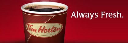 Tim Hortons donates to communities in which they operate, on both a local and national level. Submit request at least 12 weeks in advance. Apply online: http://www.timhortons.com/ca/en/difference/sponsorshipform.html