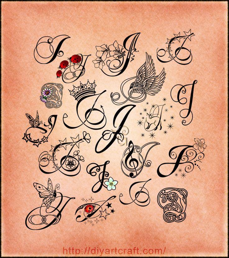205 Best Letter J Images On Pinterest Calligraphy