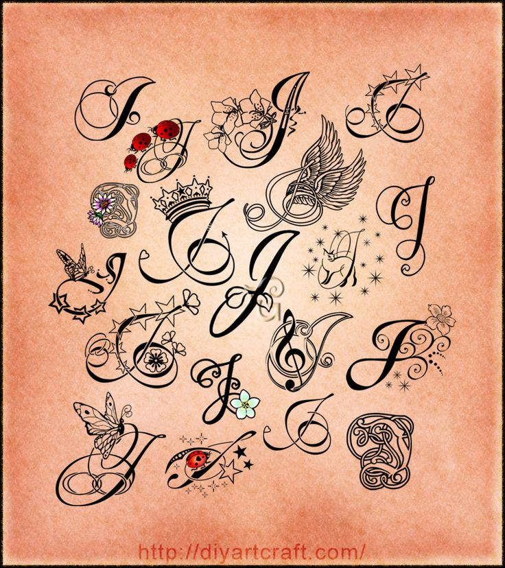 1000 Ideas About Letter J Tattoo On Pinterest Letter J