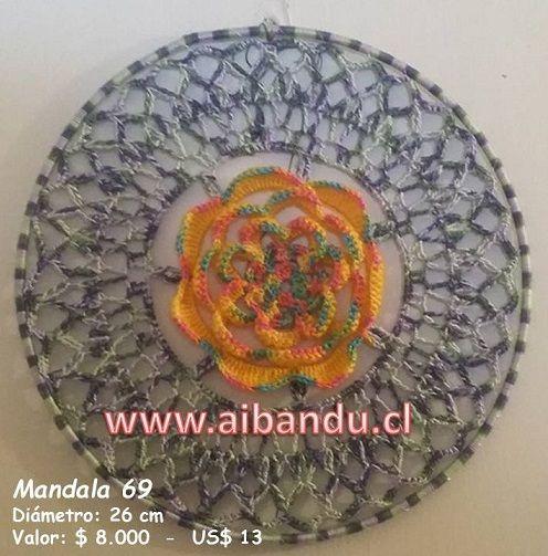 Mandala 69 ... tejido a crochet ... diametro 26